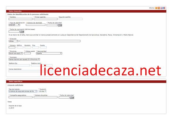 solicitar licencia de caza en cataluña