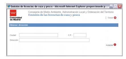 licencia de caza interautonomica madrid