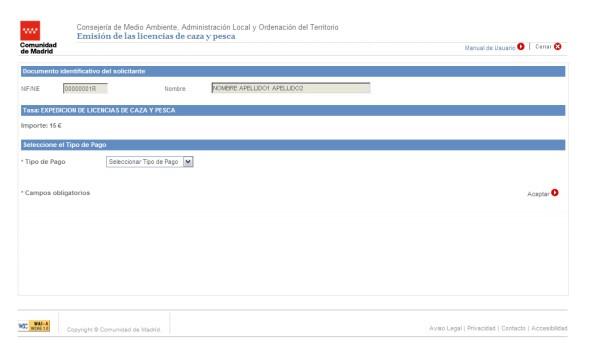 licencia de caza madrid