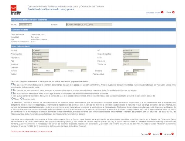 licencia de caza de madrid